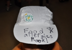 Food Allergies Rock Baseball Hat