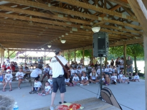 Kyle Dine Performing at Camp TAG Food Allergy Camp