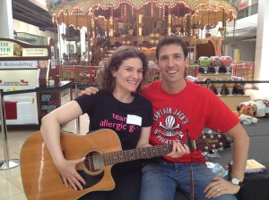 Hanging out at the KFA Expo in 2012. Maybe we could start a music duo?