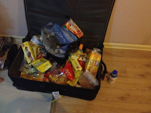 Our suitcase full of food
