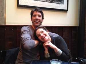Sloane and I having fun at dinner together in NYC.