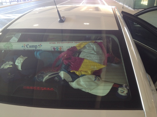 Who wouldn't want to live in a car this packed for 2.5 months?? ;)