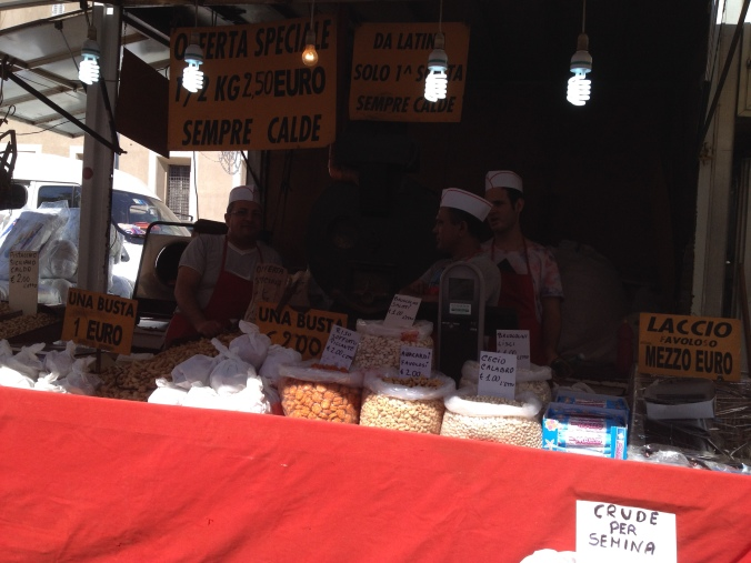 "Stands selling nuts in open markets were around, but I stayed clear of ""street food"" altogether."