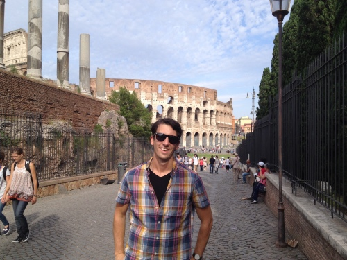 In front of the Colosseum in Rome