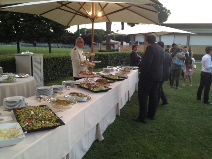 Catered events were a bit more of a challenge, but still was happy with the amazing fruit platter for dessert.