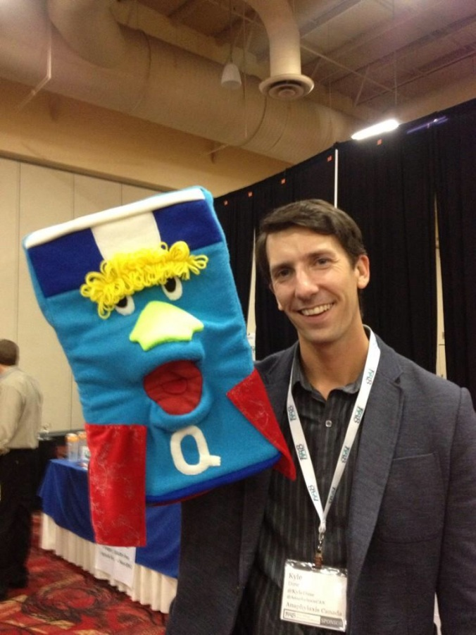 """One hilarious quote I saw this week """"Only Kyle Dine can pull off a puppet at a cocktail party!"""""""